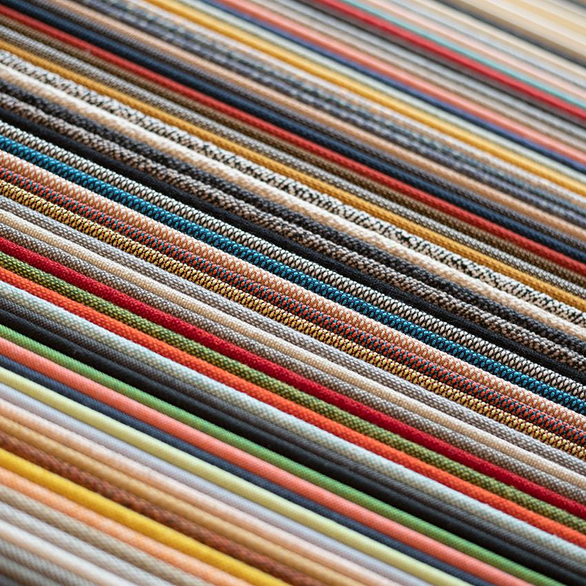 Polstrings farveprøver